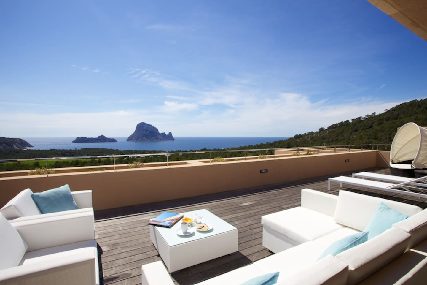Amazing views over nature reserve towards island of Es Vedra