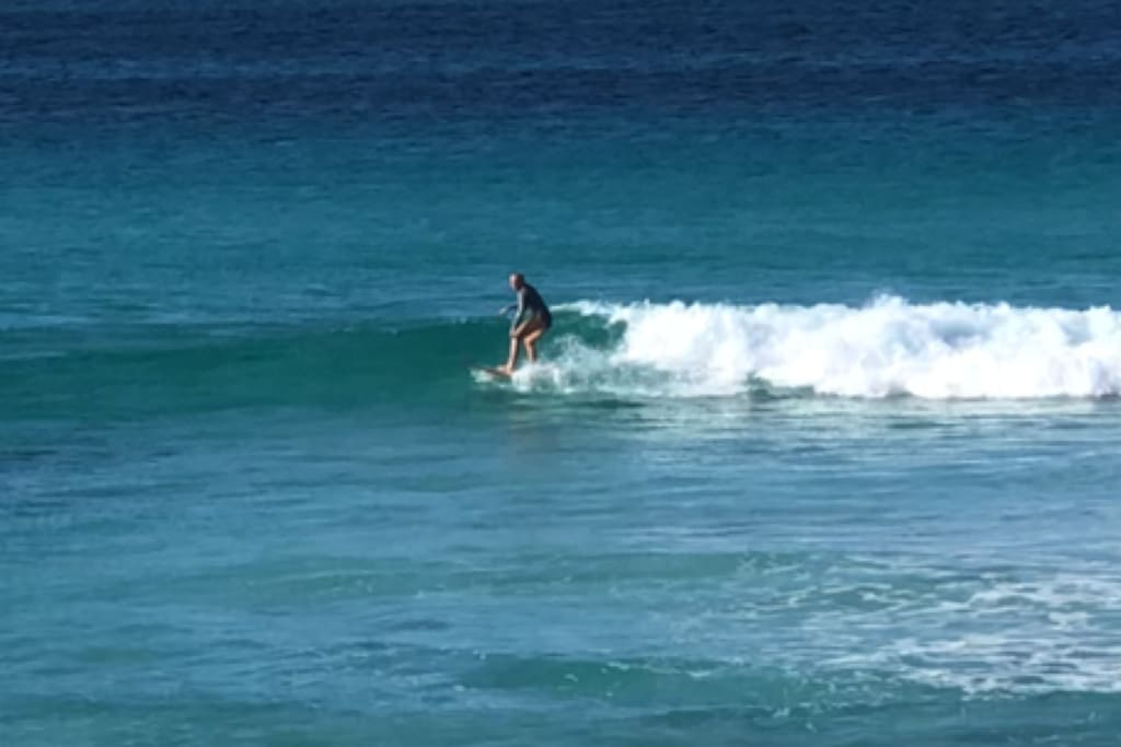 Great surfing break straight in front of the steps to the beach