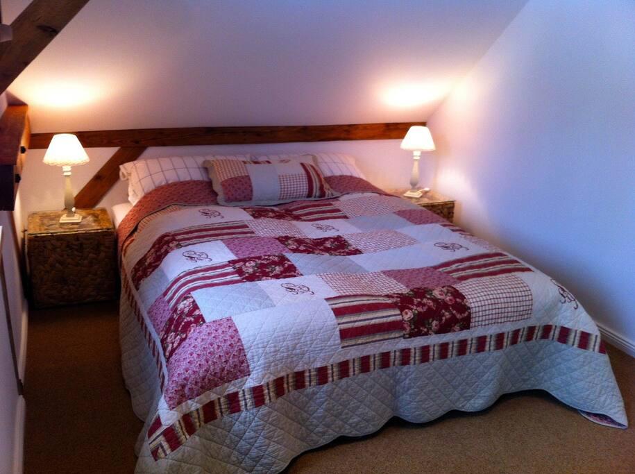 Zweites Schlafzimmer mit Schlafsofa (160x200) Eine weiteres zusätzliches Bett (Schlafsessel-85x190) ist möglich.