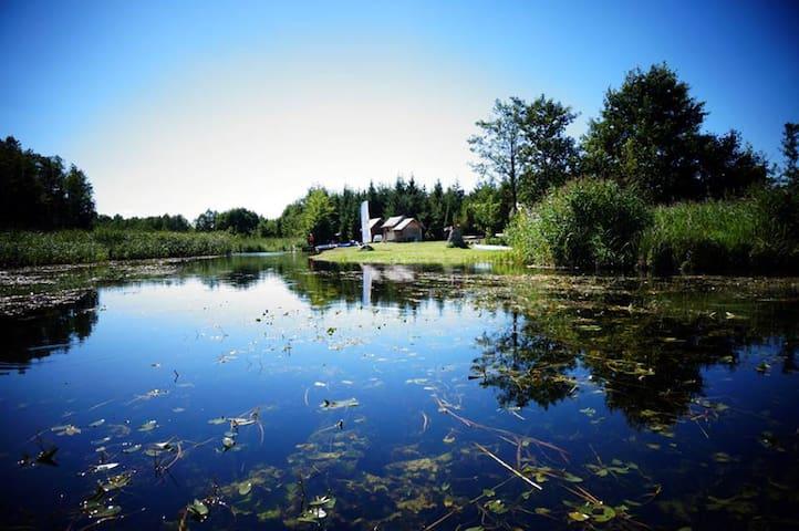 Stanica Wodna Zakole nr2 - domek nad Czarną Hańczą