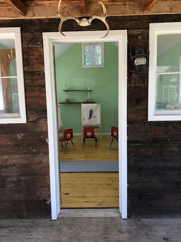 Little cabin is also perfect kids or adult art studio or a yoga room.