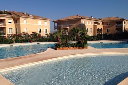 Cocooning studio jardin piscine  - Biot