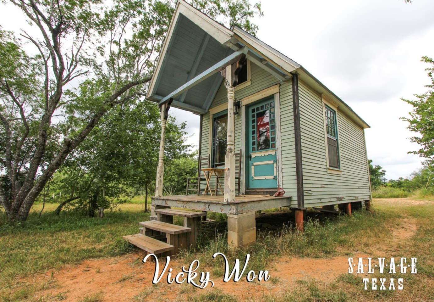 The Vicky Won is one of the original Tiny Texas House designs.