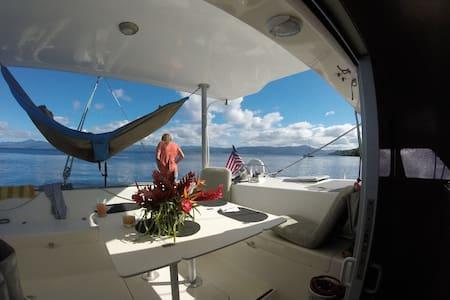 Sailing Catamaran QUIXOTIC in Savusavu, Fiji! - Savusavu - Barco