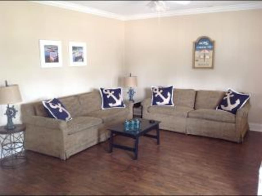 Living Room - Lots of space to spread out, full size sleeper sofa, and large flat screen TV