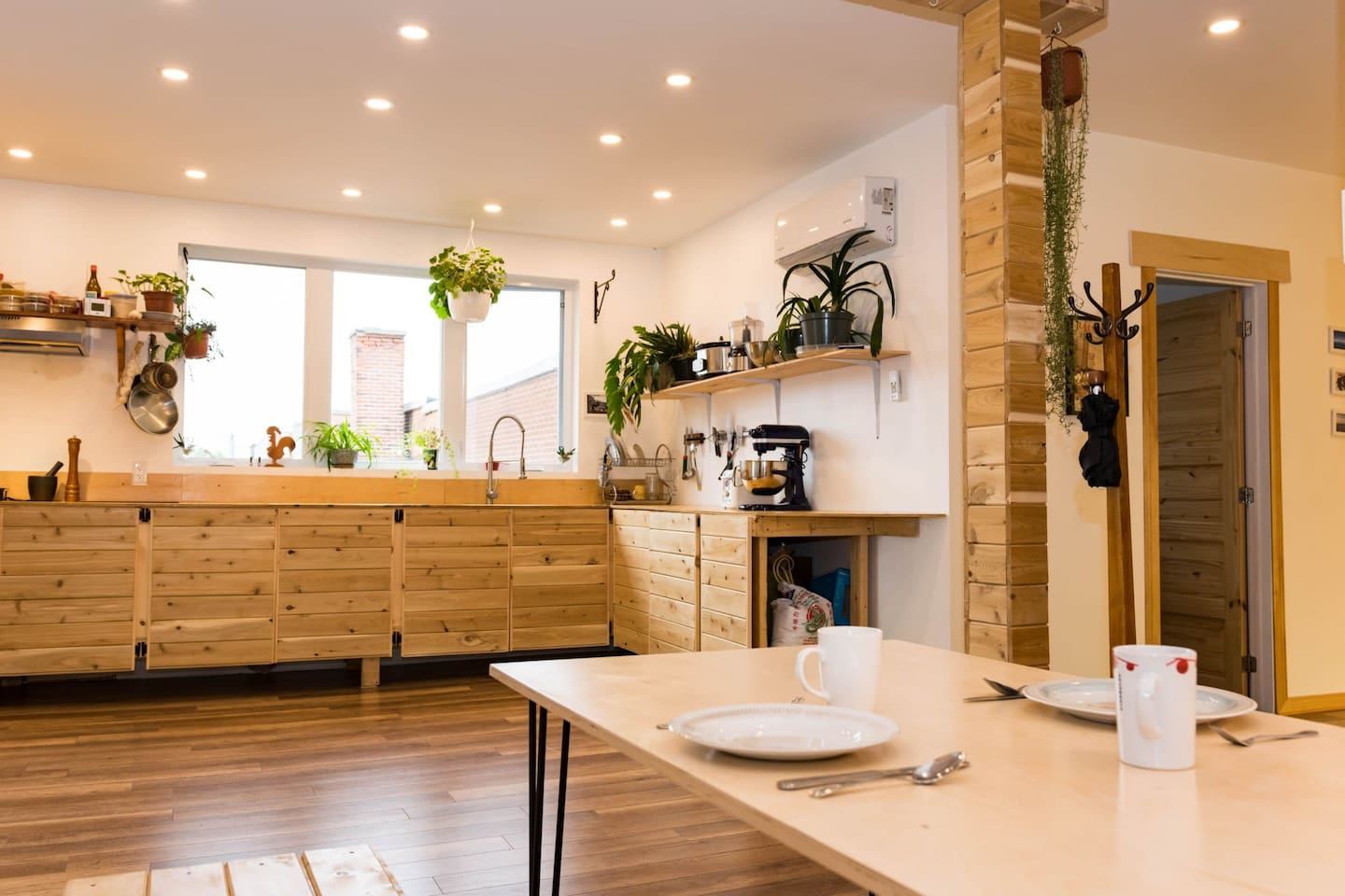 Pleasant kitchen with an eco-friendly atmosphere
