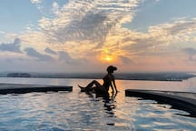 Wake up early to catch sunrise over malacca city and Seaview malacca. The best part is most of the time is about having the whole pool to ourselves ❤️