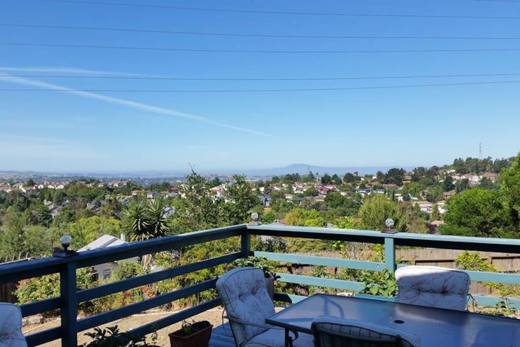 Our view just became panoramic!  TWO enormous trees removed for your viewing pleasure, (and ours!)