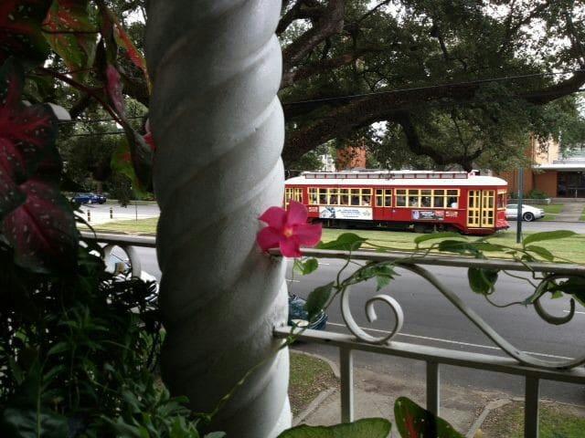 Tropical Balcony on Streetcar Line