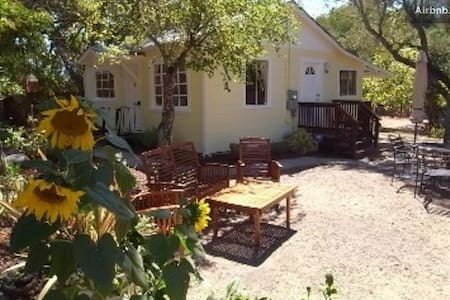 This Cozy, Bright Glen Ellen Cottage in Sonoma Wine Country is the perfect place to relax or check out the countryside.