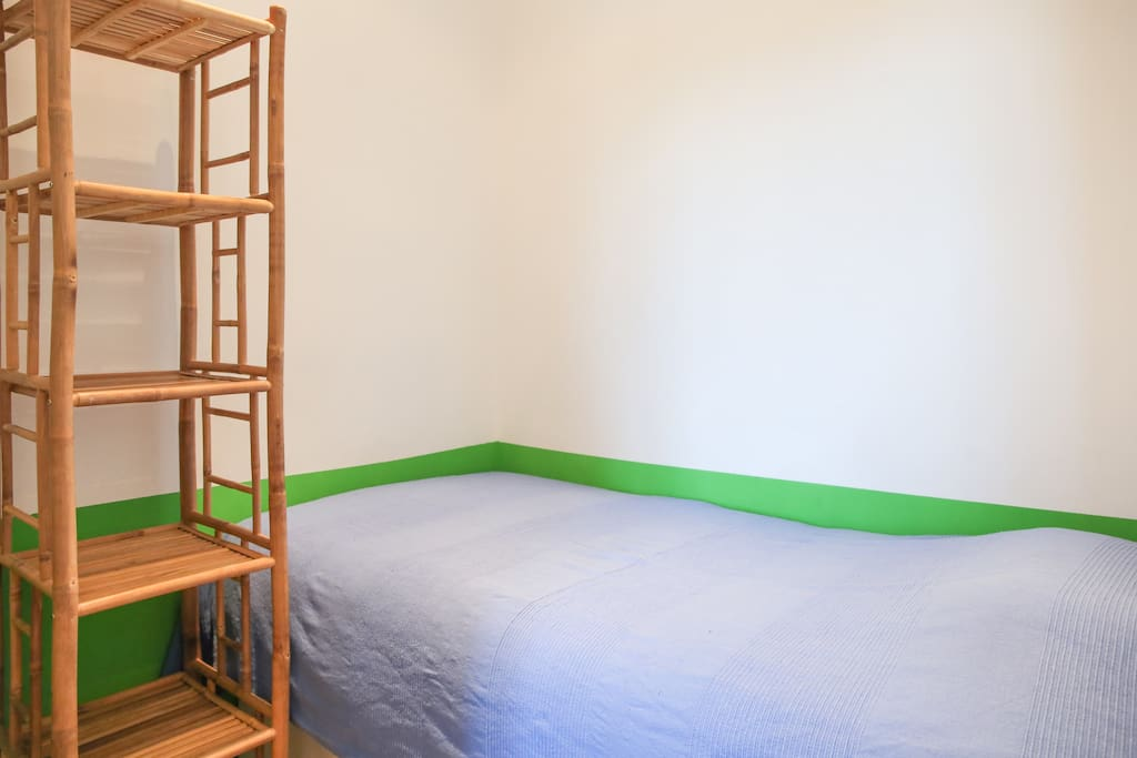 A little bedroom with a single bed in case of a 3rd person (or if you need two beds).