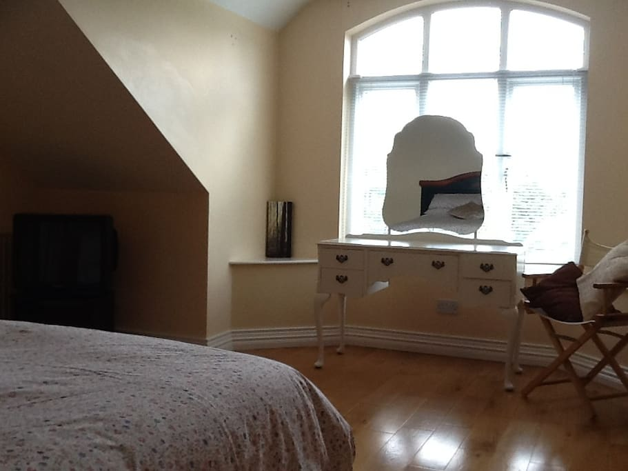 One of the large spacious double rooms.