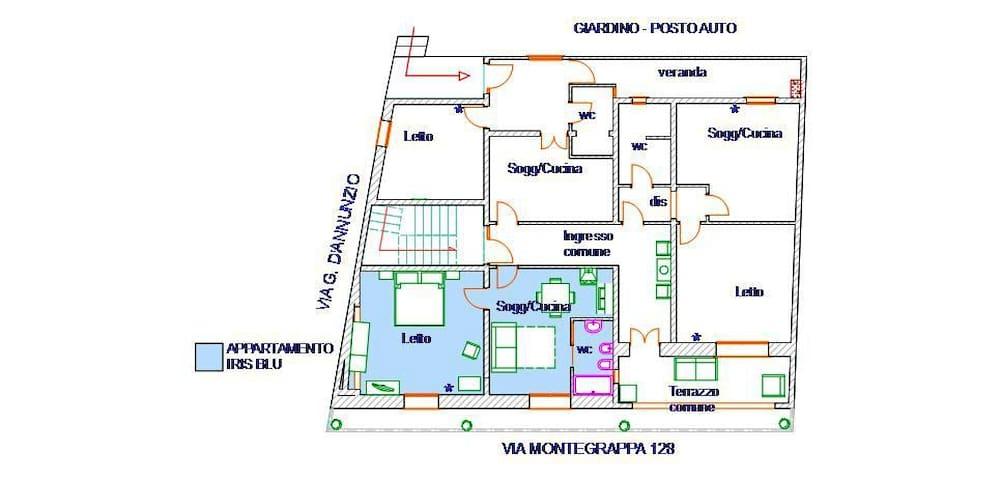 Appartamento Irs Blu in scala.