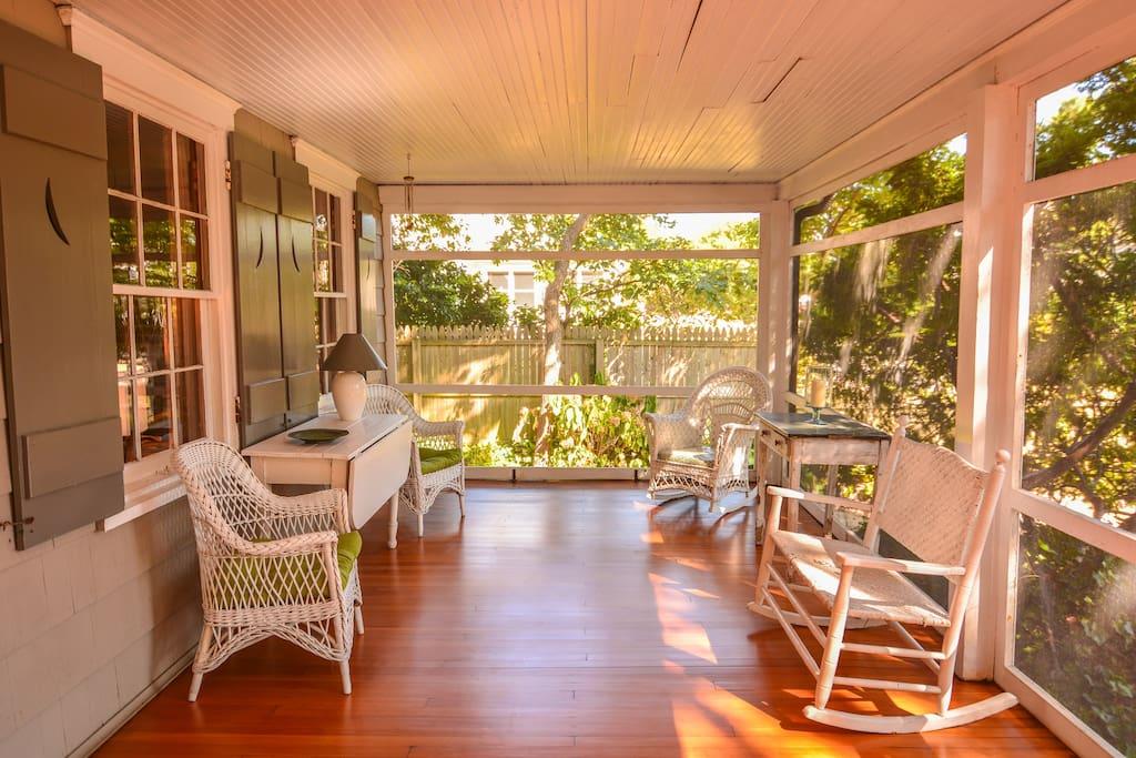 Large front porch.