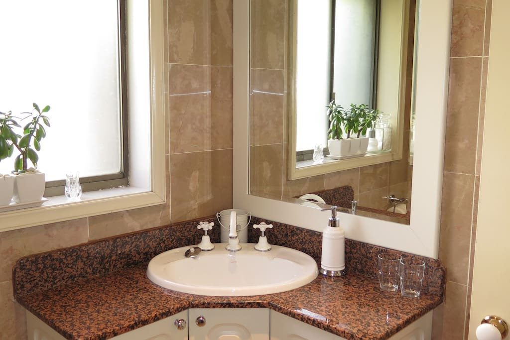 Your own marble shower room with strong hot shower