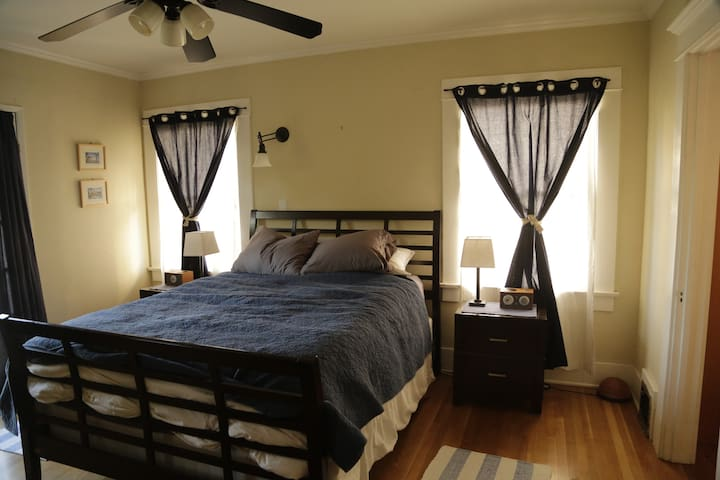 Comfortable and Spacious Master Bedroom with nook.