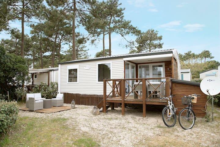 Location Lacanau Océan plage /camping 3* mobilhome