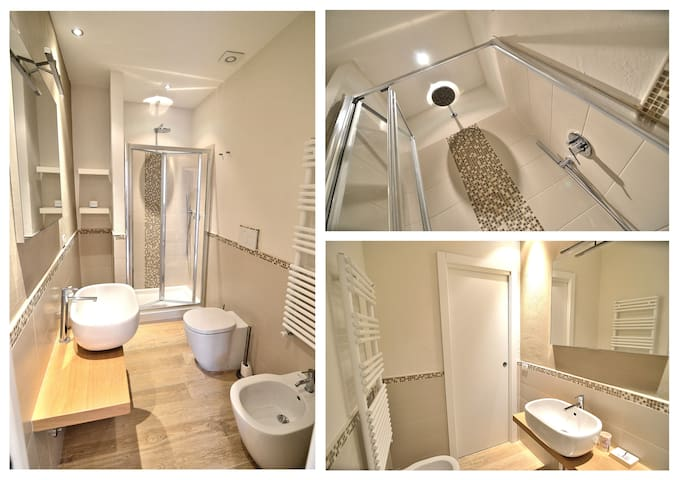 Details of the main Bathroom of the Shower! Here you'll find Hairdryer, soap and Shampoo at your disposal