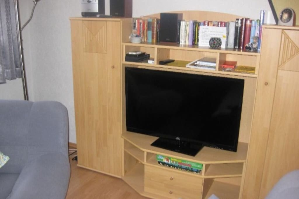 Bibliothek, TV, Hifi