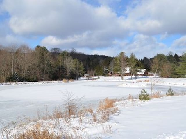 Windham Log Cabin/5 MINUTES TO TOWN AND SKI SLOPES - Windham - Cabaña