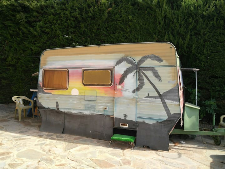 Caravan in a private property