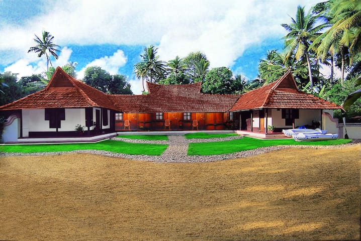 150 years old heritage rooms facing backwaters