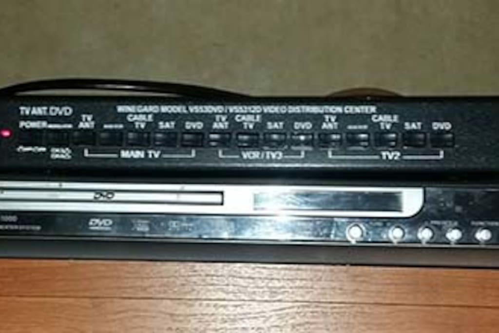 DVD Player.  Also you can use Wifi (will provide password upon arrival)