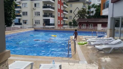 бассейн, сауна 400 метров до моря denize 400 m
