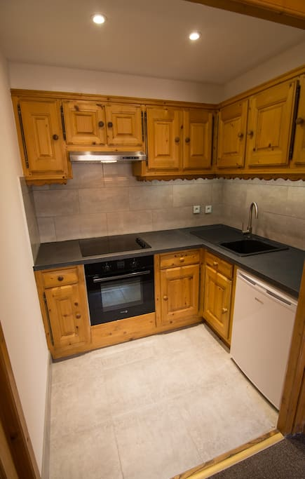 Modernised kitchen with new appliances