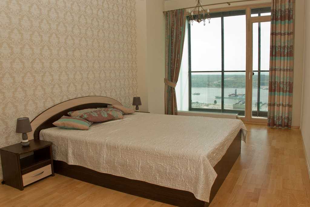 Sea-view from bedroom - you may enjoy ships or sailor-boats right from the bed or from nice balcony with cup of coffee