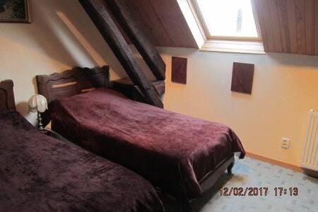 (3)Chambre 2 pers. chez l habitant (lits indivi.) - Saint-Georges-de-Poisieux - House