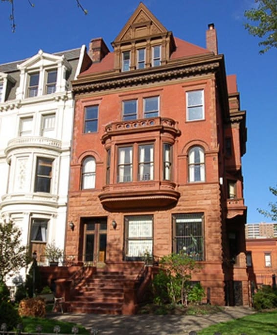 apt is in top two floors of 1890s historic mansion