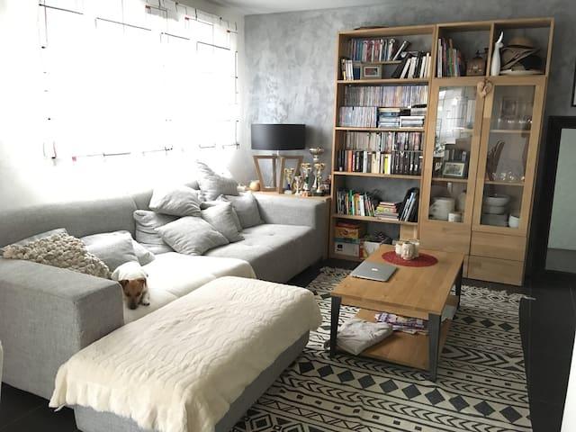 Duplex jardin récent tout confort 2 chambres