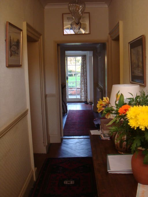 Front hall towards garden