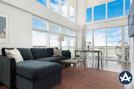 Sextant | 2-Story Waterfront Condo #10 | Heated Pool | 10 mins to Miami Beach