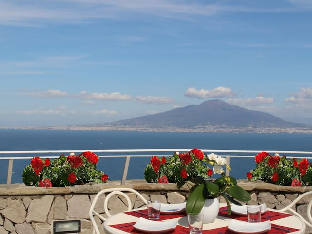 MiraSorrento, romantic view on the Bay of Naples