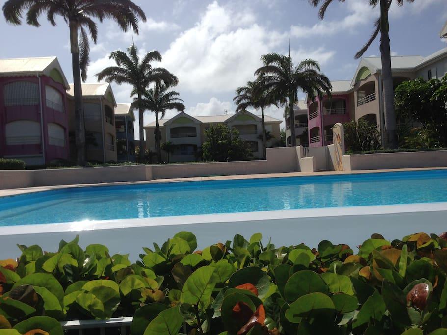 résidence de standing avec piscine