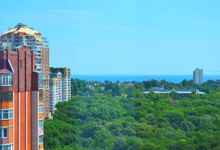 Район Аркадии, с видом на море и красивым парком !