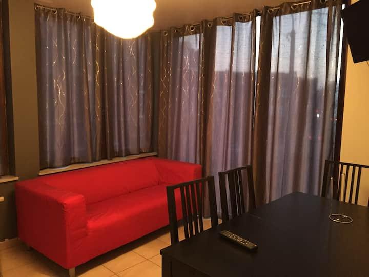 Lumineux & cosy appartement 1ch à Liège 1.02W