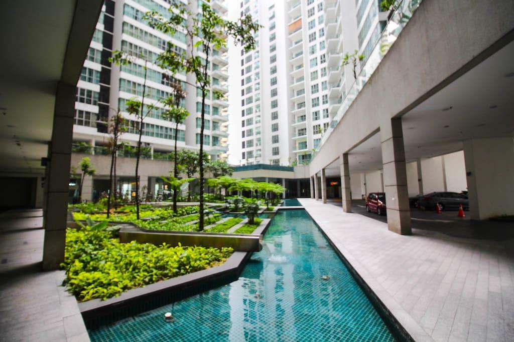 Entrance of the condominium