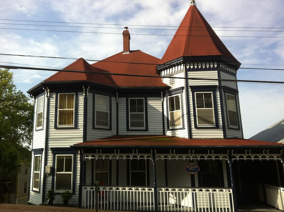 Queen Anne style architecture with spacious foyer and rooms. Three balconies and east-facing verandah, situated in the center of Old Town.