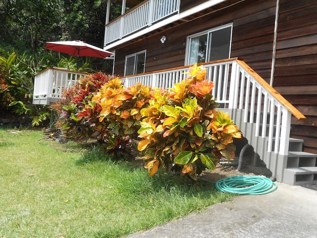 Free parking right in front. Just 5 steps up to private entrance. Outdoor shower!