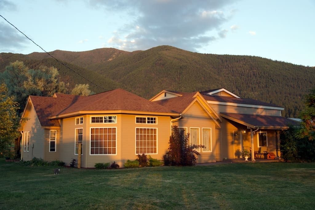 The property at sunset