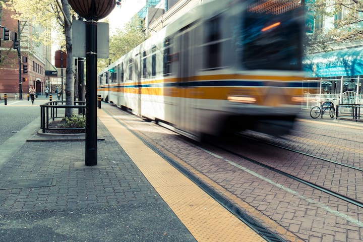 Nearby transit can take you throughout downtown and to surrounding suburbs