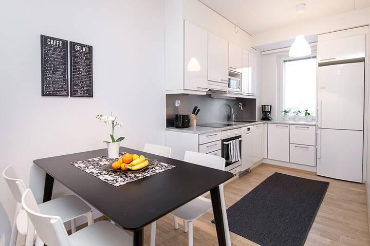 Modern one bedroom apartment in Vaasa