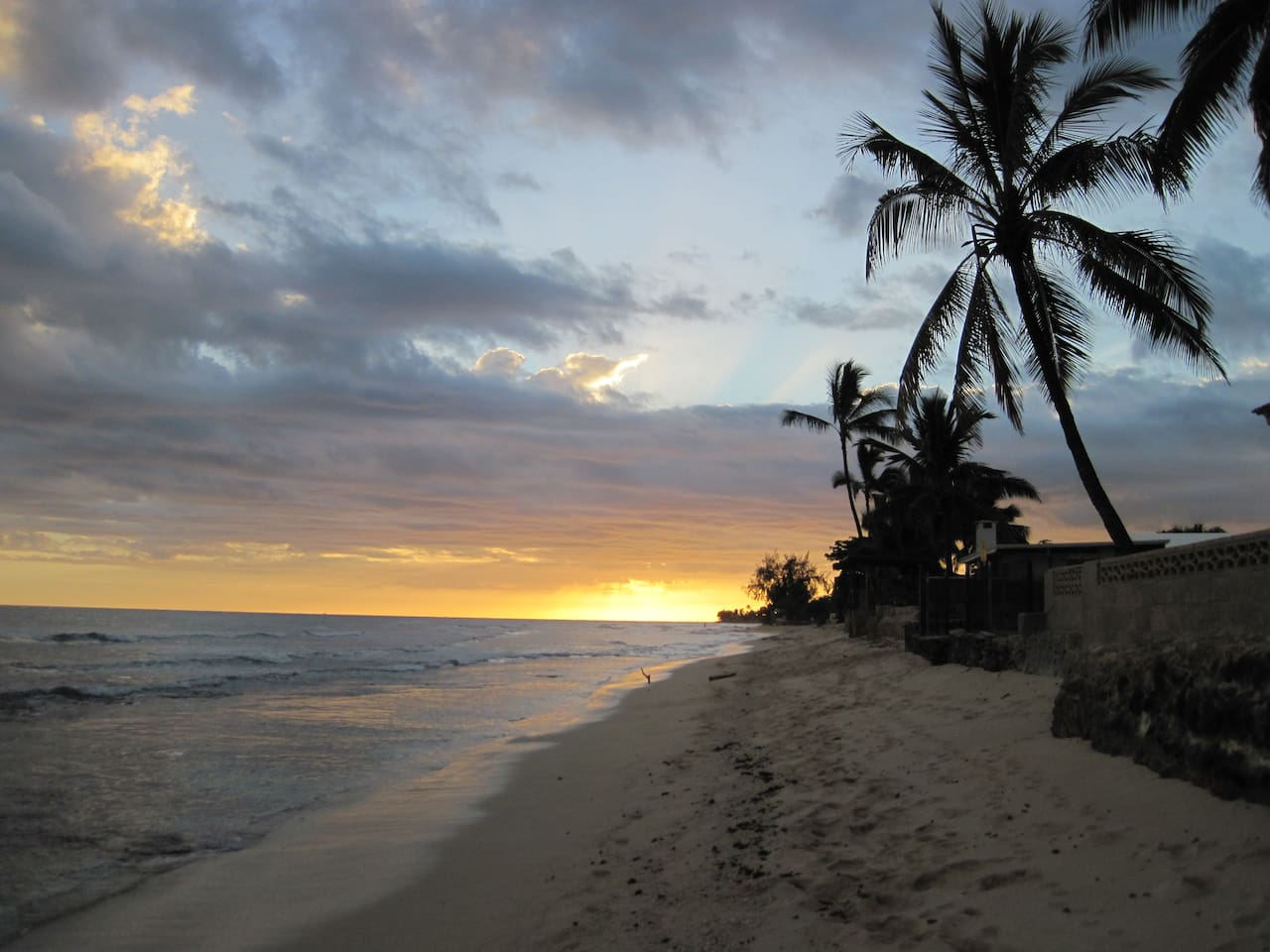 Sunset on Ewa Beach - steps from your front door.