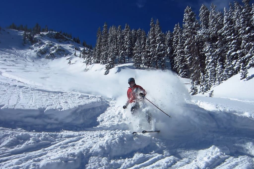 You'll be only 20 minutes away from Grand Targhee, which offers some of the greatest skiing on earth!