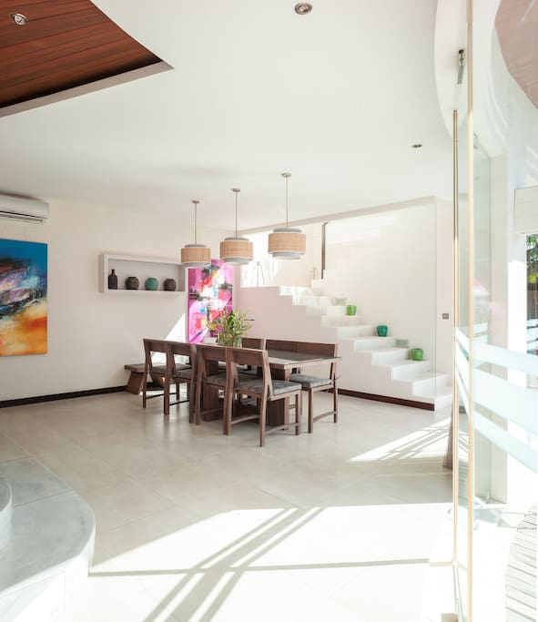 Enjoy the open space, bright, airy and - a real home for families or couples.