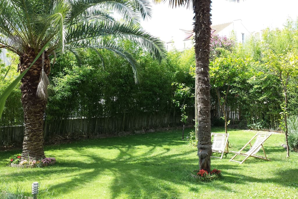 Beautiful 200 square meter garden in front of the villa