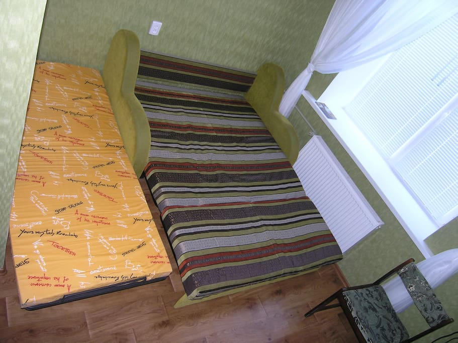 An extra fold-out bed for one more person (no extra payment).
